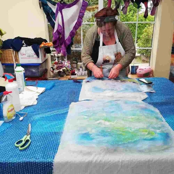 Learn To Make Textile Art With Felting