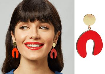 Design Ireland & Shock of Grey's Red D Doodle earrings Giveaway