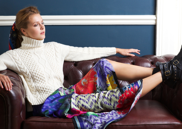 A fashionable pairing: Susannagh Grogan's scarves & Madigan's knits