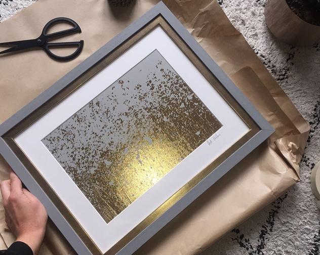 Disintegrate Framed Print