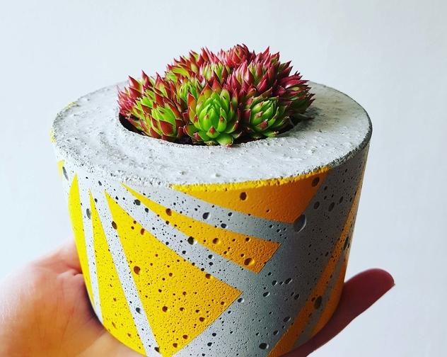 Ail El small concrete planter