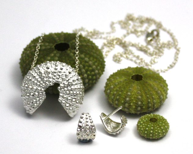Jennifer kinnear seaurchin necklace and earrings