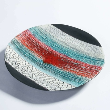 Red Horizon, Porcelain Wall Plate