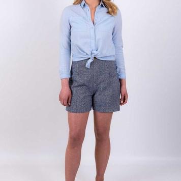 Tweed Shorts - Blue