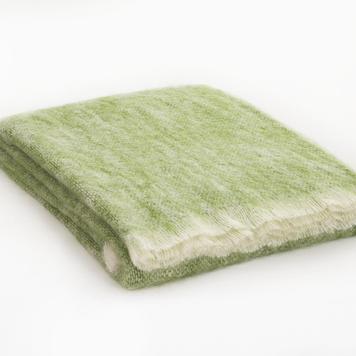 Mist Rowan Mohair Throw Blanket