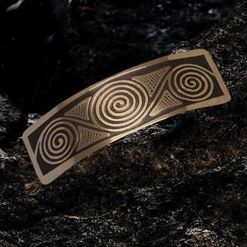 Newgrange Spirals Hairslide / Barrette