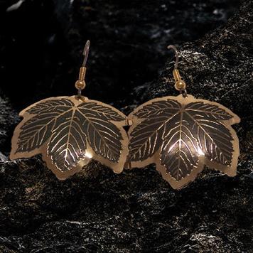 Wild Atlantic Way Sycamore Leaf Earrings