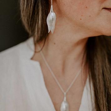 Eucalyptus Drop Earrings