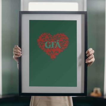 Grà Print ( Grá is the Irish word for Love )