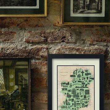 Ireland Icons Map