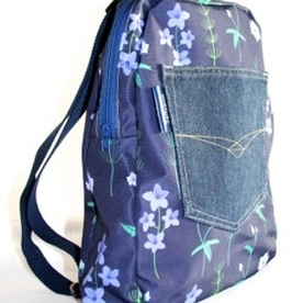 Marie Backpack in Blue Burren Fabric