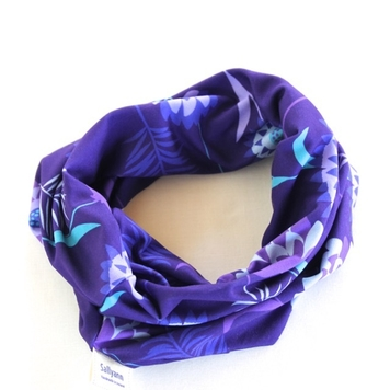 Neckband in Purple Meadow Fabric