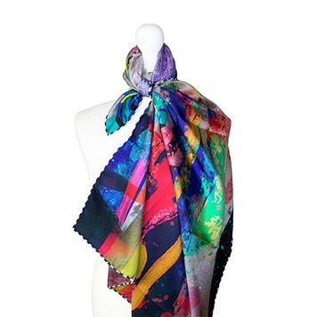 100% Silk Twill 90X90cm 3