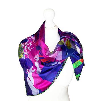 100% Silk Twill 90X90cm 2