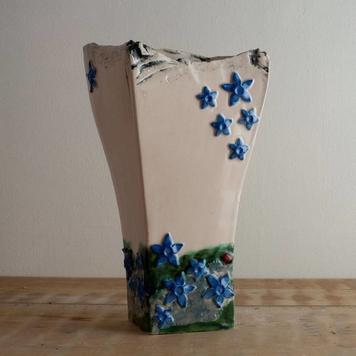 Blue Gentian Vase