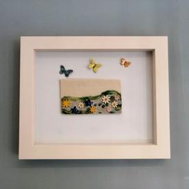 Framed Burren Landcape - lrg