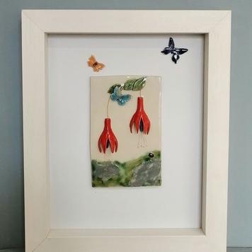 Framed Fuchsia Tile - lrg
