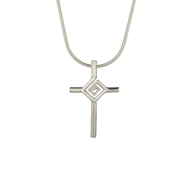 "St. Bridget's Cross on 18"" snake chain"