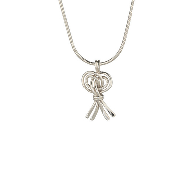 "Love Token: Small Harvest Knot Pendant and 18"" snake chain"