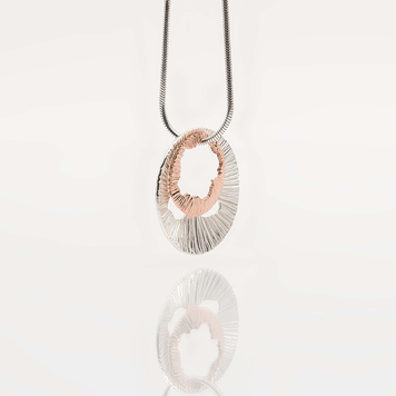 Shell Silver and Rose Gold Pendant