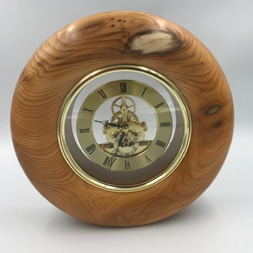 Irish Yew Skeleton Clock