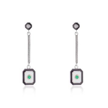 Art Deco Emerald Earrings