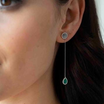 Drop Malachite Earrings