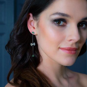 Green Drop Tsavorite Earrings