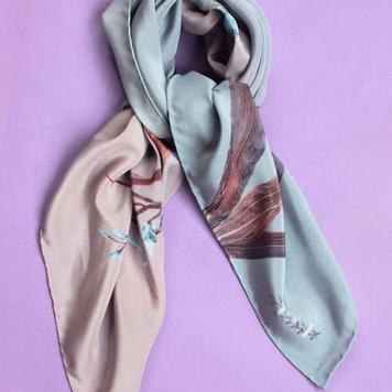 """""""Wild Orchid"""" Silk Necktie"""