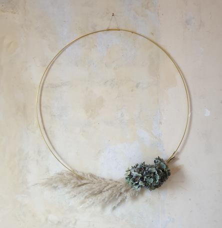 Sustainable Brass Wreath