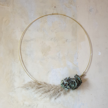 Sustainable Brass Wreath