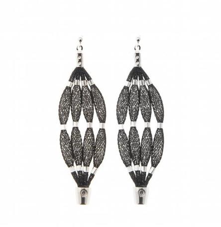 Topaz Silver Four Strand Earrings