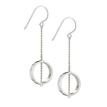 Ebb & Flow Silver Chain Earrings