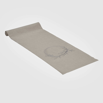 Wild Collection Natural Wreath Linen Table Runner