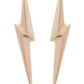 3D Pointed Lightening Bolt Earrings