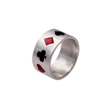 Enamelled Poker Ring
