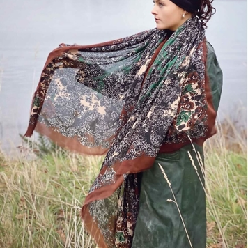 'Patricia' Silk Blended Scarf