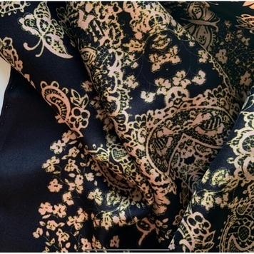 'James' - Rose Gold & Peat Brown Scarf