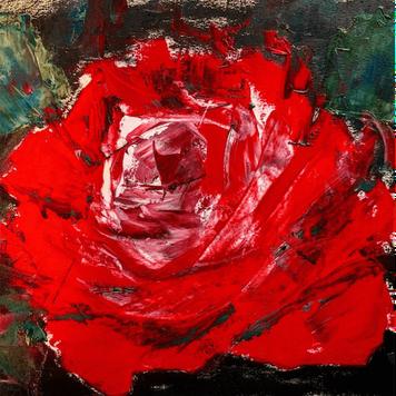 'Mayo Rose' Silk Twill Scarf