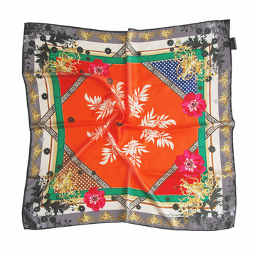 'Orange Baroque' Classic Silk Scarf