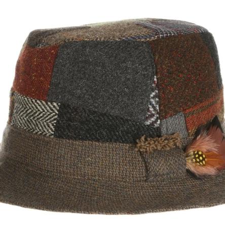 Walking Hat Patchwork Tweed