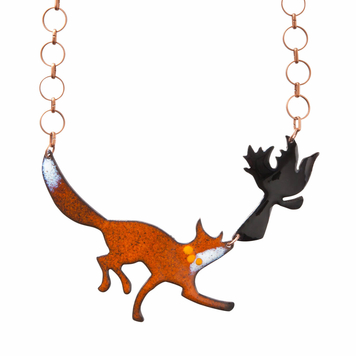 Aesop's Fox and Crow Necklace