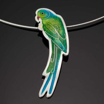 Green Parakeet Pendant