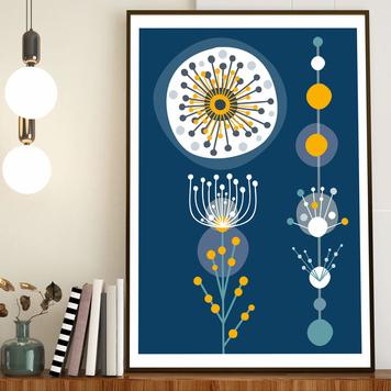 Wattle Golden Mimosa giclee print - A5, A4 or A3