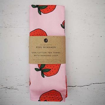 Tea towel: Strawberry Design