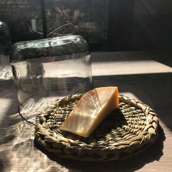 Cheese Cloche and Rush Platter