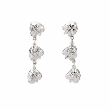 3 Snout Silver Dangle Earrings