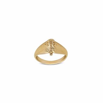 18 Carat Yellow Gold Snout Signet Ring