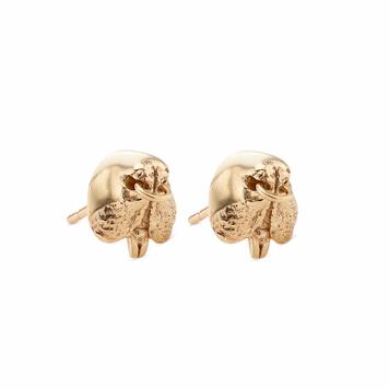 Gold Snout Stud Earrings