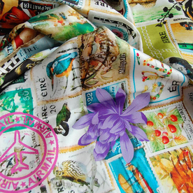Stamps Classic Silk Scarf